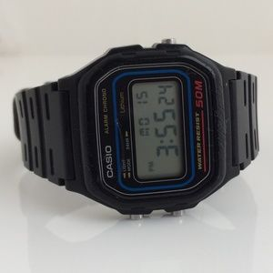 Casio Men Watch Digital Black Rubber Band Multi